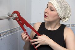 Female plumber Stock Images
