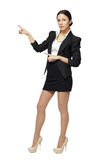 Female pointing at blank copy space Royalty Free Stock Photography