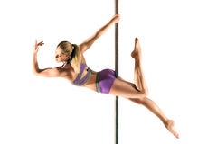 Female Pole dancer Stock Photo