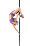 Female Pole dancer Royalty Free Stock Photography