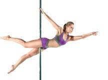 Female Pole dancer Royalty Free Stock Photos