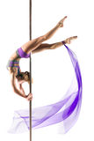 Female Pole dancer Royalty Free Stock Photo