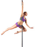 Female Pole dancer Stock Images
