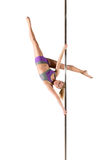 Female Pole dancer Stock Photo