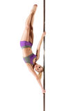 Female Pole dancer Royalty Free Stock Photos