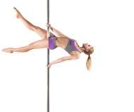 Female Pole dancer Stock Images