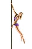 Female Pole dancer Stock Image