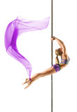 Female Pole dancer Royalty Free Stock Image