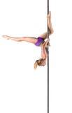 Female Pole dancer Royalty Free Stock Photo