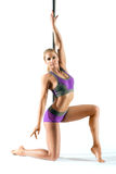 Female Pole dancer Royalty Free Stock Images