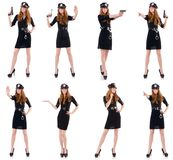 The female police office isolated on the white. Female police office isolated on the white Stock Photo