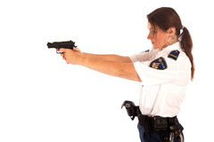 Female police officer. Shooting female dutch police officer Stock Photos