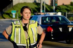 Female police officer Royalty Free Stock Image