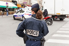 Female Police Officer Paris Stock Photography