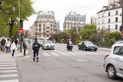 Female Police Officer Paris Stock Photo