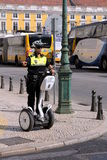 Female Police Officer on a Segway. In the city of Lisbon, Portugal in the year 2011 Stock Images
