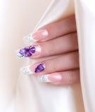 Female polished nails Stock Photography