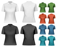 Female polo shirts. Design template. Royalty Free Stock Photography