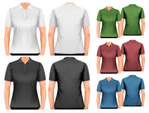 Female polo shirts. Design template. Royalty Free Stock Photo