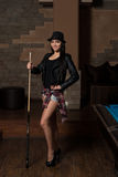 Female Pool Player Stock Images