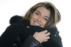 Female Portrait. An attractive women with a scarf and coat Stock Images