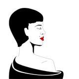 Female portrait. vector illustration