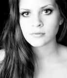 Female portrait in black and whtie Stock Photo