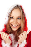 Female portrait christmas costume Stock Image