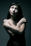 Female portrait in cold tones Royalty Free Stock Image