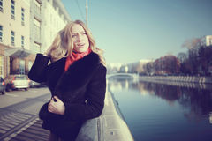 Female portrait in cold tones Stock Image