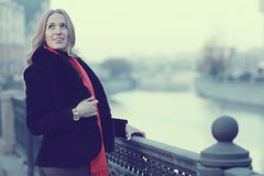 Female portrait in cold tones Royalty Free Stock Photography