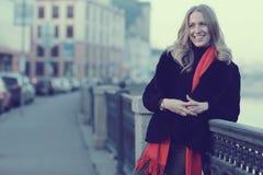 Female portrait in cold tones Stock Photos
