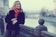 Female portrait in cold tones Stock Images