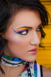 Female portrait colourful makeup Stock Photo