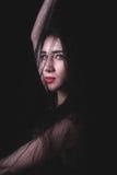 Female portrait on dark background Stock Image