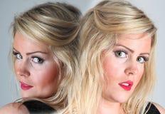 Female portrait -double / twins Stock Photo