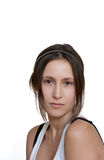 Female portrait with lot of copy space Royalty Free Stock Photos