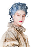 Female portrait medieval costume Stock Image