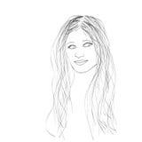 Female portrait, vector illustration Stock Image