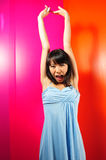 Female Portraits. Different poses of female portraits. A colourful world Stock Photos