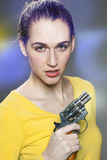 Female power concept,intimidating young woman Stock Photo
