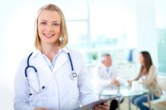 Female practitioner Stock Photo