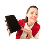 Female preacher Stock Image