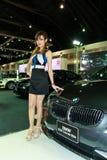 Female presenter of BMW Royalty Free Stock Photos