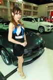 Female presenter of BMW Stock Photos