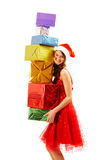 Female with presents Royalty Free Stock Images