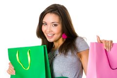 Female with presents Stock Photography