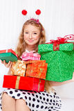 Female with presents Royalty Free Stock Photo