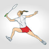 A female Professional Badminton Player Royalty Free Stock Photo