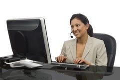 Female Professional on White Stock Photos
